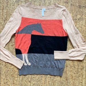 Anthropologie horse sweater